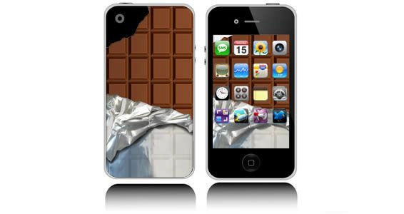 Choco Bar  iPhone decals skins
