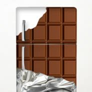 Chocolate Bar Dry-erase Fridge Decal Skins