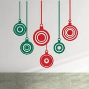 Christmas Bulbs wall cut outs