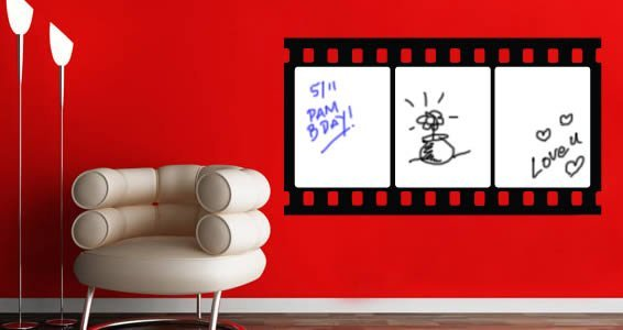 Cinema Strips whiteboard decals