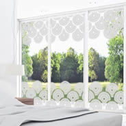 Art Deco frosted glass window decals