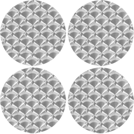 Origin Aluminum Circles metal wall clings