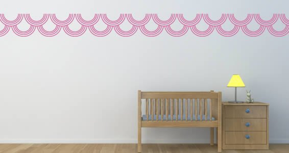 Exceptional Circles Border Wall Decals