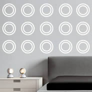 Nice Ring Circles Wall Decals