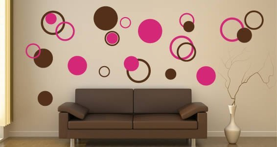 Superieur Bubble Circles Wall Decals