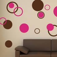 Bubble Circles wall decals