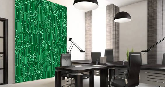 Circuit Board Wall Murals Dezign With A Z