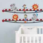 Circus Friends border decals