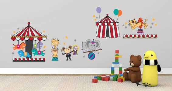 Circus Show wall decal pack
