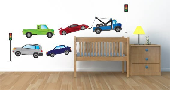 My City Mobiles II wall stickers