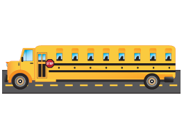 City School Bus decal coat racks