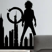 City Punk decorative wall stencil