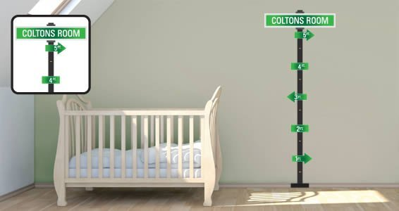 Personalized City Street growth chart wall decals