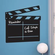 Movie Clapper chalkboard decal
