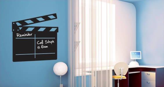 Movie Clapper chalkboard decal