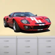 Classic Red Racing Car wall decal