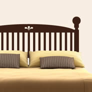 Classic Wood Headboard wall decal