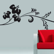 floral branch wall sticker