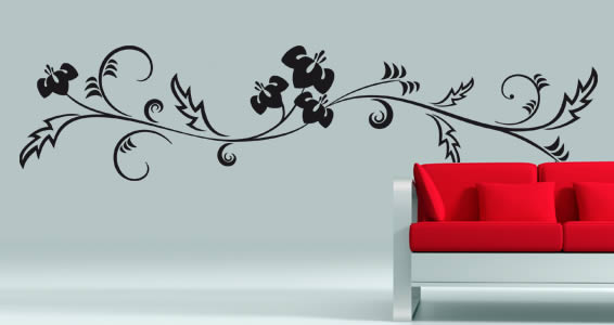 Flower 01 floral wall stickers