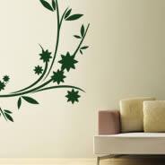 Flowers Branches wall decals
