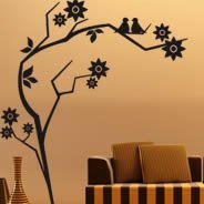 Branch birds wall stickers