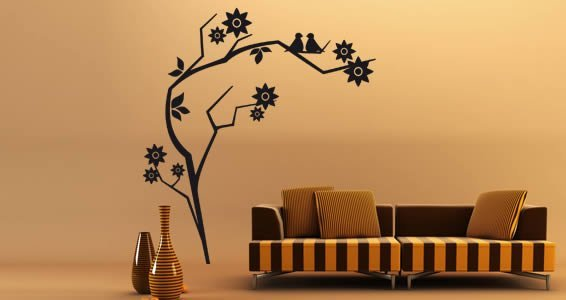 Flower 16 floral wall stickers