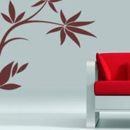 Flower floral wall stickers