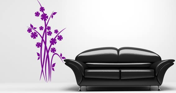 Branch flowers wall decals