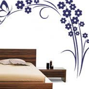 Classic 20 flower wall decals