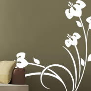 Bouquet branch wall decals