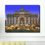 Trevi Fountain framed digital canvas