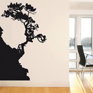 Tree Cliff adhesive wall decals