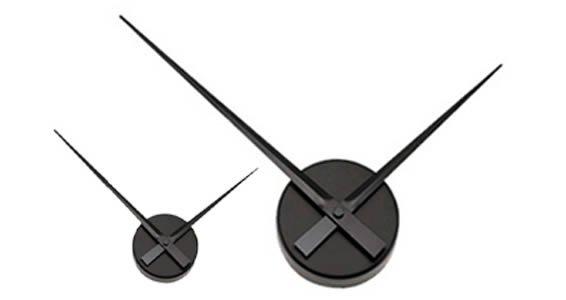 Bare wall clock mechanism