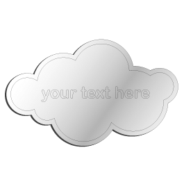 Custom Cloud Acrylic Mirror