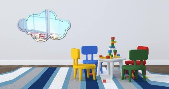 Cloud wall mirrors