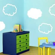 Cloudy Clouds wall decals