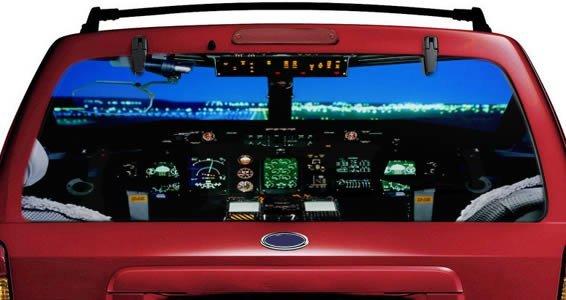 Cockpit airplane see through car window decals