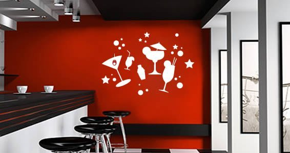 Cocktail Party wall decals