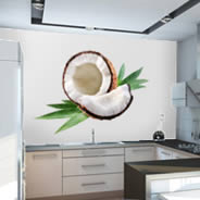 Coconut wall decal