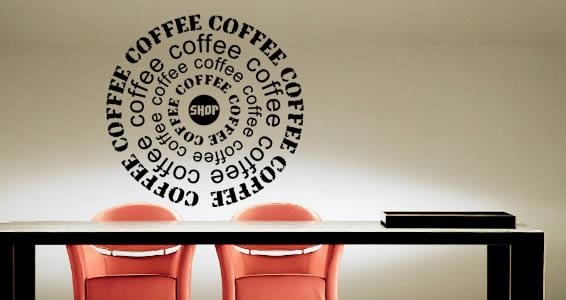 Coffee Shop vinyl wall art