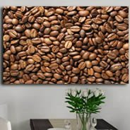 Coffee Beans digital painting on canvas