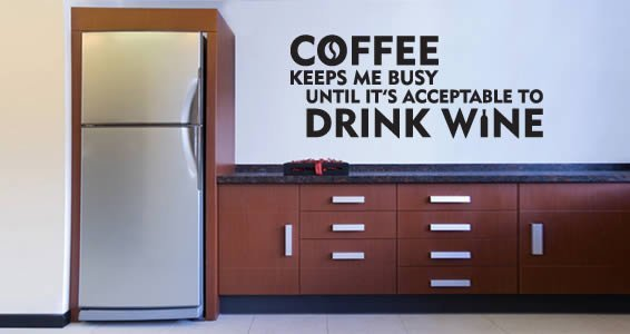 Coffee Wine wall decal quotes & Coffee Wine wall decal quotes | Dezign With a Z