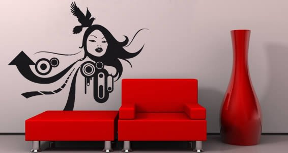 Colette vinyl wall stickers