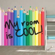 Colored Pencils Dry Erase Wall Stickers