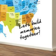 World Wall Stickers Voyage Wall Decals Dezign With A Z - Dry-erase-us-wall-map