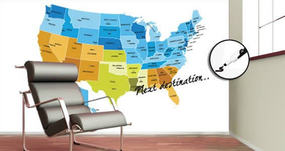 Colored USA Map Dry Erase Decal Skin Dezign With A Z - Us map dry erase