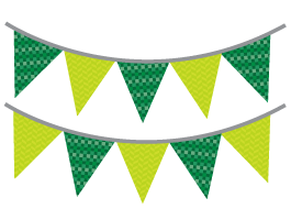 Colorful Fiesta Buntings pack decal