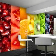 Colorful Fruits wall mural