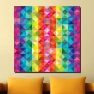 Colorful Mozaic wall canvas