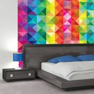 Colorful Mosaic Art wall murals